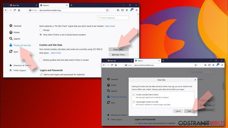 Obnova nastavení prohlížeče Mozilla Firefox