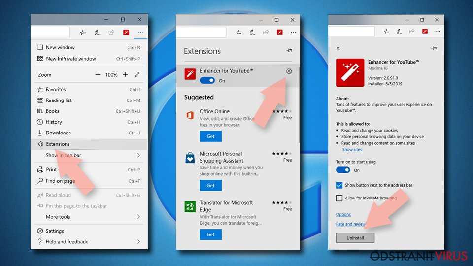 Obnovení prohlížeče MS Edge/Chromium Edge