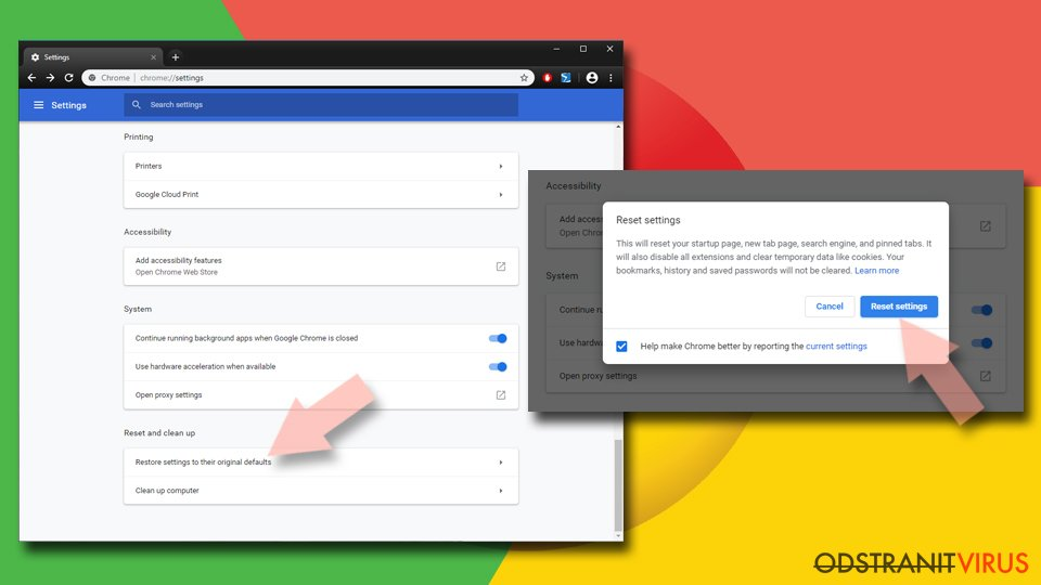 Obnovení prohlížeče Google Chrome