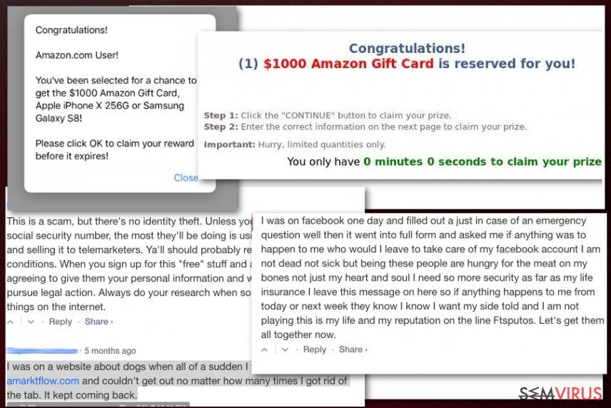 Amarktflow - kampaň s falešnou odměnou
