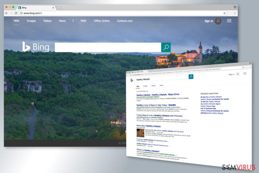 Přesměrování Bing