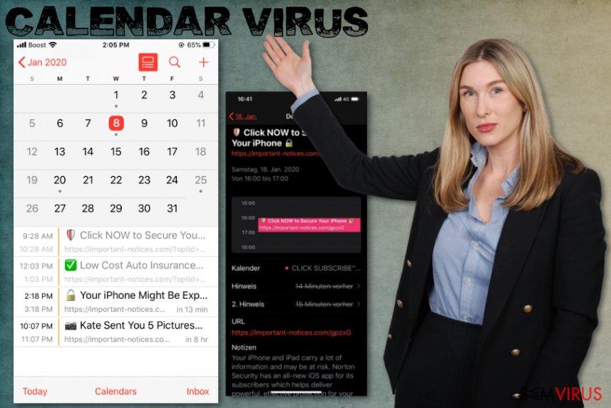iPhone Calendar virus