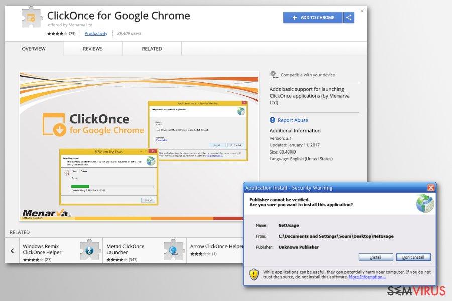 obrázek pro přesměrovávací virus pro Chrome