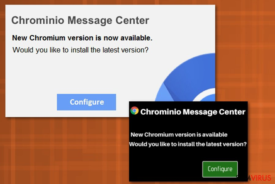 Chrominio Message Center virus