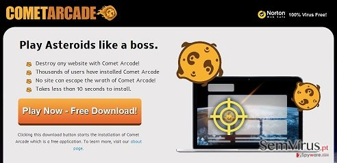 obrázek pro virus Comet Arcade
