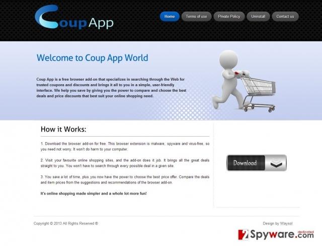 obrázek pro reklamy Coup App