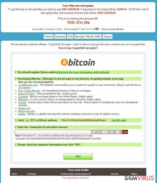 obrázek pro Virus CryptoWall