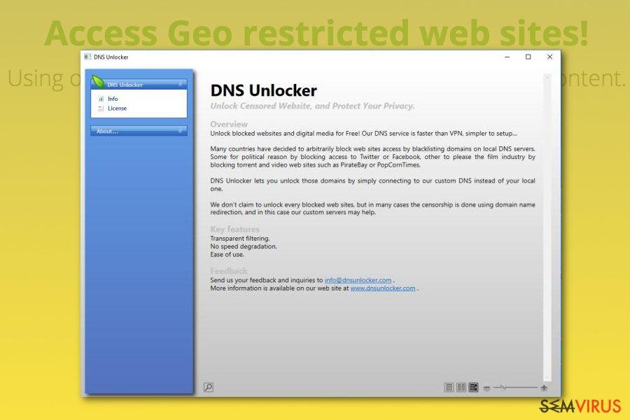 obrázek pro DNS Unlocker adware