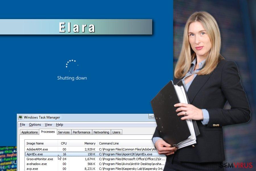 Příklad aplikace Elara