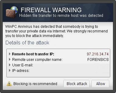 """obrázek pro Vyskakovací okna """"Firewall Warning"""""""