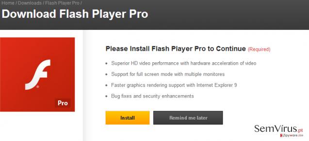obrázek pro virus Flash Player Pro
