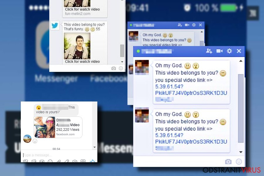 """Zpráva facebookového viru """"Jsi to ty?"""""""