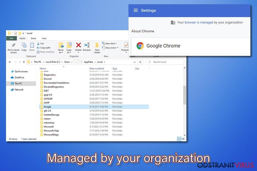 """Virus prohlížeče Chrome """"Spravováno vaší organizací"""""""
