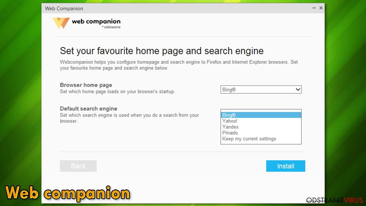"""Únosce"" Web Companion"